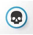 skull icon symbol premium quality isolated vector image