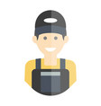 smiling laborer man vector image