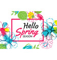 spring season banner template background vector image