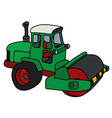 the green road roller vector image