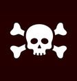 threatening skull and crossbones sign icon vector image vector image