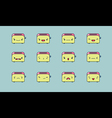 Toaster emoji vector image vector image