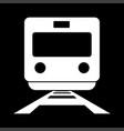train white color icon vector image vector image