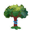 tree hug for nature love concept vector image vector image
