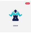 two color dancer icon from brazilia concept vector image