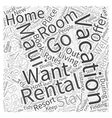 Vacation Rentals In Maui Word Cloud Concept vector image vector image