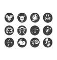 Zodiac tattoo stencil vector image vector image