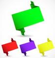 Set of origami speech bubble vector image