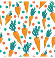 vegetable pattern hand-drawn seamless pattern vector image