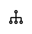Network Icon Flat vector image