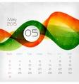 2015 Calendar May vector image vector image