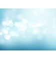 Abstract blue circular bokeh background vector image vector image