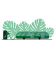 an electric bus green color on background vector image vector image