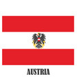 austria symbols national coat arms and flag vector image