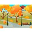 Autumn Park Landscape vector image