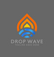 awesome drop wave logos design vector image vector image