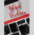 black friday sale poster template for discount vector image