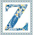 Blue letter Z vector image vector image