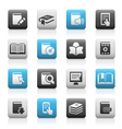 Books icons Matte Series vector image
