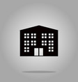 building icon black silhouette on background vector image