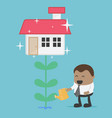 business concepts piggy bank give house vector image