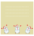 card three funny snowmen happy vector image