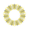 circle frame photo decoration isolated on white vector image
