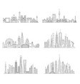cities skylines set vector image vector image