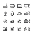 Computer Icons and and Computer Accessories Icons vector image vector image