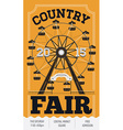 Country Fair Poster vector image vector image