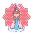 cute magic princess cartoon vector image vector image