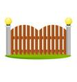 decorative wooden fences vector image