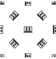 desktop pattern seamless black vector image vector image