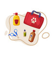 dog accessories set pet animal stuff pet first vector image
