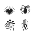 Donate hand vector image