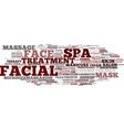 facial word cloud concept vector image vector image