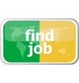 find job words on web button icon isolated vector image vector image