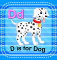 flashcard letter d is for dog vector image