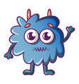 furry monster icon cartoon style vector image