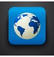 Globe symbol icon on blue vector image vector image