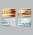 gold and silver wave bank card blank model vector image