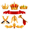 Gold crown golden king royal crown with