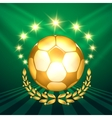 Golden Soccer Ball vector image