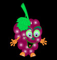 grape cute red cartoon vector image vector image