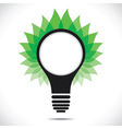green leaf around bulb vector image vector image