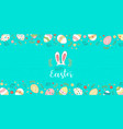 happy easter greeting card with cute spring eggs vector image vector image
