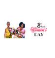 happy three generations african american women vector image vector image