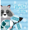 hello baby card vector image
