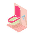 home toilet icon isometric style vector image vector image