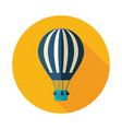hot air balloon icon summer vacation vector image